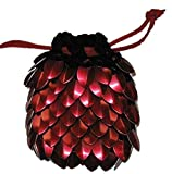 Dice Bag in Knitted Scale Armor - Dark...