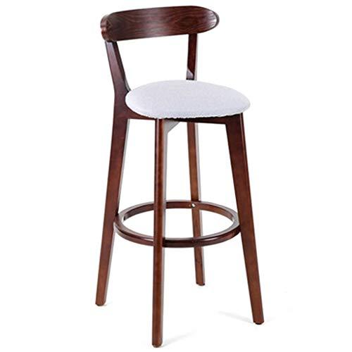 Silla plegable Silla moderna minimalista de bar, de madera maciza de heces en la recepción, taburetes altos for el hogar, la...