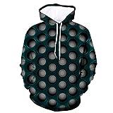 3D Print Hoodies Men's 3D Funny Jacket Long Sleeve Hooded Coat Hoodie Blouse Tops Men's Rain Jackets Gray