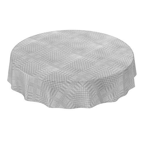 Anro - Mantel de hule lavable, hule, Aspecto textil liso
