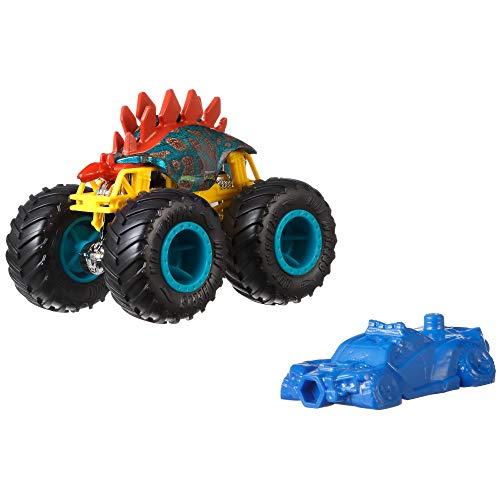Hot Wheels GJY23 - Monster Trucks 1:64 Die-Cast Spielzeugauto Motosaurus, Spielzeug ab 3 Jahren, Modell und farblich sortiert