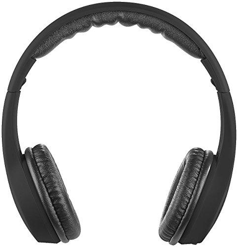 PEARL Kopfhörer faltbar: Faltbares On-Ear-Headset mit Bluetooth 4.0 und Audio-Eingang, schwarz (Kopfhörer On Ear, Bluetooth)