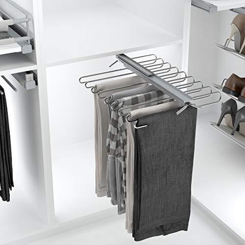 Pantalonero extraíble Reversible - 9 ó 11 Pantalones - Perchero para Pantalones - para 9 Pantalones