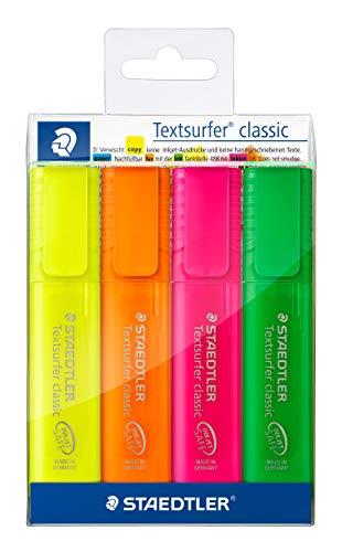 STAEDTLER 364PWP4 - Estuche con 4 Marcadores Fluorescentes