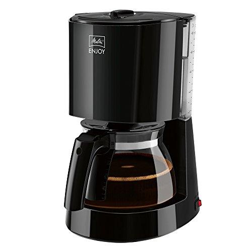 Melitta Enjoy 1017-02, Filterkaffeemaschine mit Glaskanne, AromaSelector, Schwarz Filter-Kaffeemaschine, Kunststoff, 1.2 liters