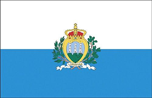 Décoration Drapeau – San Marino – Taille env. 150 x 90 cm – 80142 – Pays de Drapeau