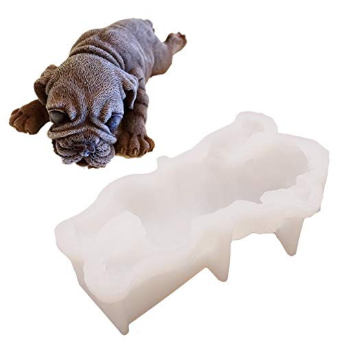 Hund Silikonform 3D Shar Pei Hund Form Silikonform Schokolade Shar Pei Hund Kuchen Dekoration Mousse DIY Fondant Schokolade Mousse Dekoration Bulldogge Silikonform Silikon Eiswürfelformen