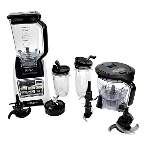 Nutri Ninja Blender Kitchen System with Auto-iQ and Powerful 1200 Watt Motor Base XL 72oz Total Crushing Pitcher and 8-Cup Processor Bowl BL685 (Renewed)