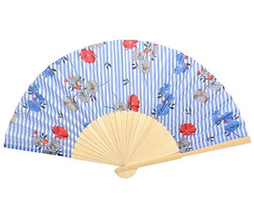 Rockabilly - Abanico veneciano de papel para el verano de bambú, plegable,...