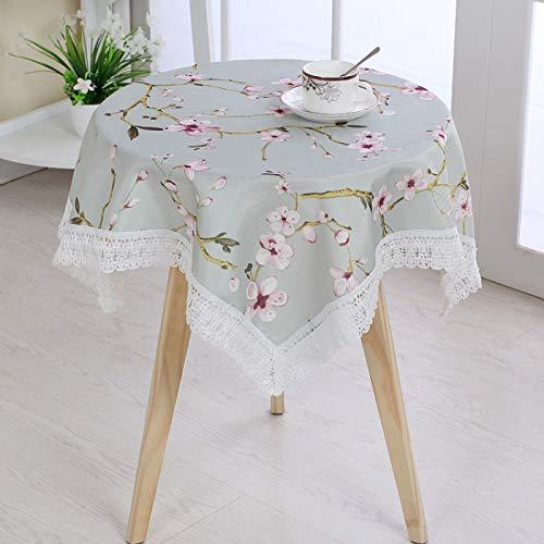 LIUJIU Mantel de poliéster sólido impreso floral moderno mantel boda banquete restaurante fiesta, 80 x 80 cm