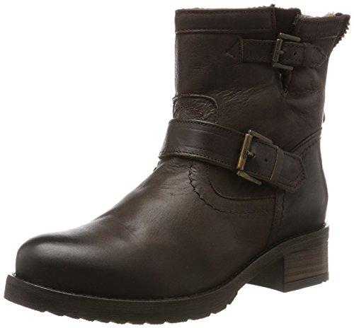 Buffalo London Damen ES 30493L Mexico Suede Biker Boots, Braun (Castanho 05), 40 EU