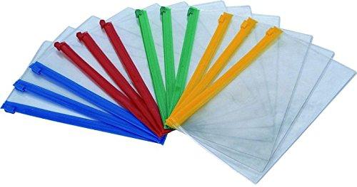 """Cartelline portadocumenti, formato A4, chiusura con cerniera, impermeabile, colore: trasparente """" trasparente"""