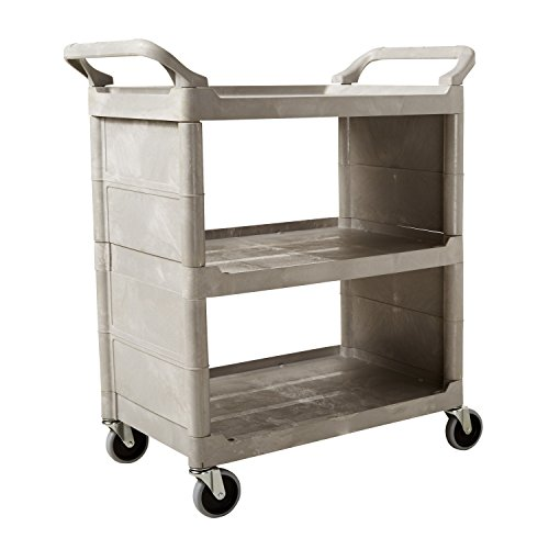 Rubbermaid Commercial Utility Cart, Platinum, FG335588PLAT