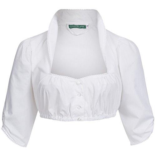 Dirndlbluse Liberta in Weiß von Country Line, Größe:34, Farbe:Weiß