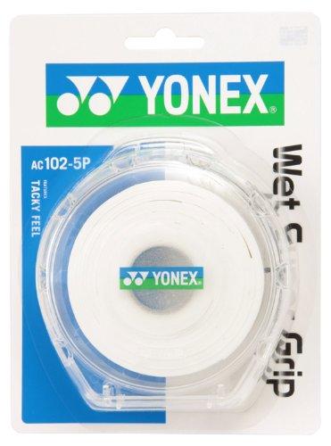 ヨネックス(YONEX) テニス バドミントン グリップテープ ウェットスーパーグリップ ケース付き (5本入り) AC1025P ホワイト
