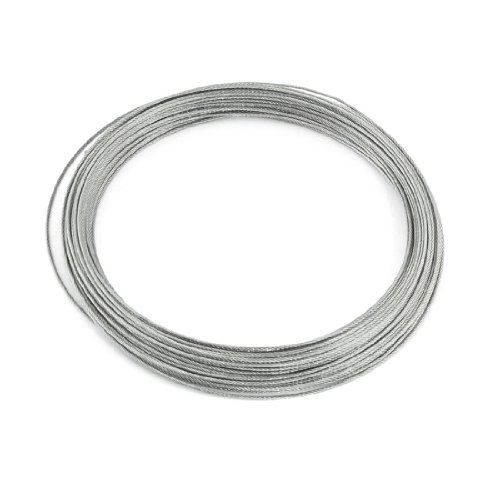 Drahtseilkabel; 7x7, 1mm Durchmesser, 25m lang, flexibel, Edelstahl de