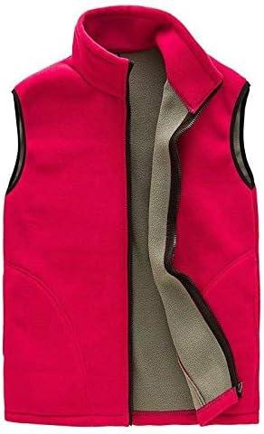 LYLY Vest Women Men Vest Casual Warm Zip Casual Fleece Vest Spring Male Waistcoat Autumn Warm Sleeveless Jacket Outdoor Vest Coat Vest Warm (Color : Red, Size : XXL)