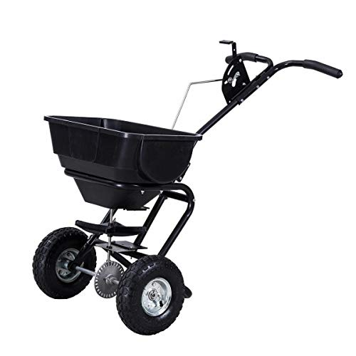 Buy Ngernlaimaa Push Walk Lawn Yard Garden Seeder Broadcast Spreader Grass Seed 55lb Hopper Tool