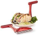 2 piezas de tostadora para tacos crujientes para tacos, conchas mexicanas crujientes y saludables para tacos en tu tostadora, creadores de conchas para tacos de tortilla crujientes y saludables