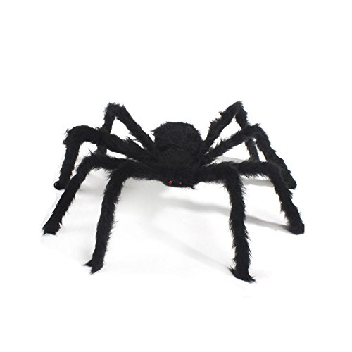 Naisidier 125cm araignée Noire d'halloween