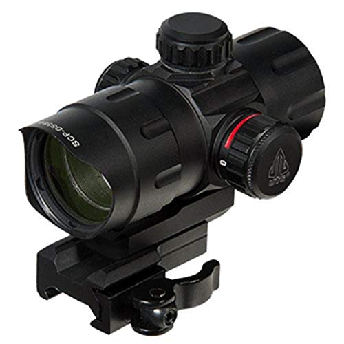 """Leapers SCP-DS3840TDQ Inc., UTG 4.2"""" ITA Red/Green T-Dot with QD Mount, Riser Adaptor"""