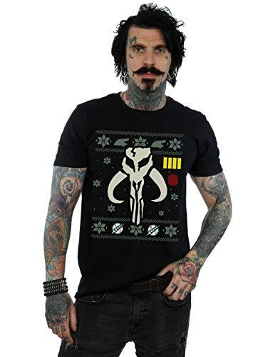 Star Wars Hombre Christmas Bantha Skull Camiseta Negro XXXX-Large