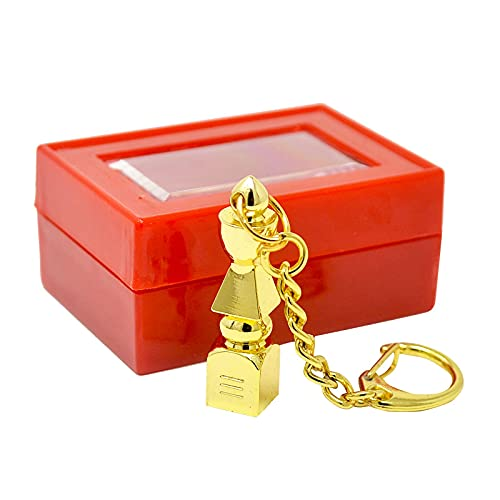Five Element Pagoda Feng Shui Keychain + Free Red String Bracelet W1175