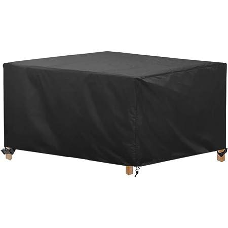 Non null 142x120x18cm resistente al sole e non sbiadisce impermeabile Nero copertura protettiva per mobili da giardino Set di 2 coperture per mobili da giardino 3 posti solido XHXseller
