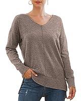 Jouica Women's Winter Sweater Breeze Light Knit Casual Sweater with High Low Hemline,Brown,X-Small