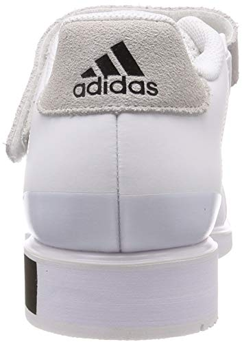 adidas Power Perfect III Weightlifting Powerlifting Shoe White/Black - UK 10.5
