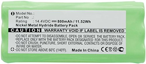 Kompatibler Dirt Devil Libero y Spider Ni-MH batería 800mAh/14.4V