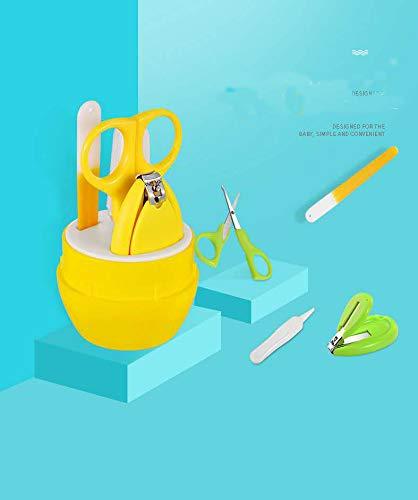 Babypflege Set 4 Stück/Baby Nagelknipser、Schere、Nasenpinzette、Maniküre Care Kit schöne Geschenke für Kinder(Gelber Bär)