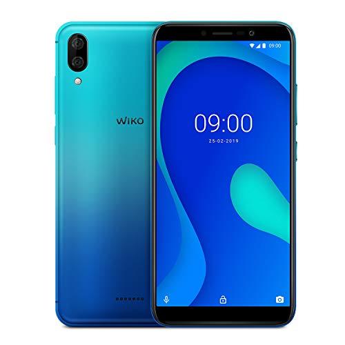 """WIKO Y80 + Carcasa – Smartphone 4G de 5,99"""" (Octa-Core 1,6 GHz, Cámara Dual 13 MP, batería 4000 mAh, 16 GB de ROM, 2 GB de RAM, Android 9, Dual SIM) – Color Turquesa"""