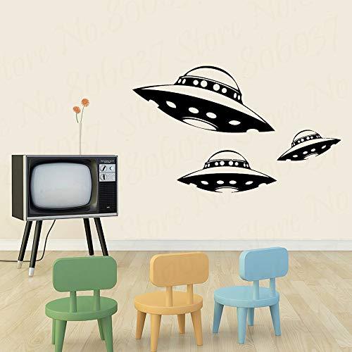 yaofale Raumschiff Vinyl Wandtattoo UFO Innenarchitektur Aufkleber Kunst Raum Hauptdekoration