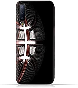 AMC Design Samsung Galaxy a7 2018 TPU Soft Protective Case with Basketball Texture Pattern
