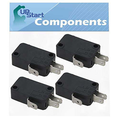 4-Pack W10269458 Microwave Door Switch Replacement for KitchenAid KHMS2040WWH1 - Compatible with W10269458 Door Switch