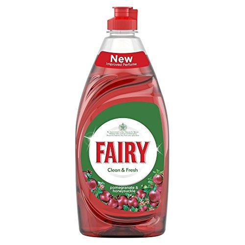 Fairy Líquido de lavado limpio y fresco, granada y madreselva, 520 ml