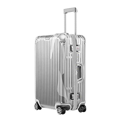 Sunikoo Luggage Cover for Rimowa Off White Suitcase Clear PVC Protector Transparent Protective Case with Black Zipper