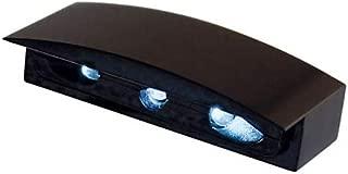 colore: nero Luce targa a LED omologata M8 Shin Yo rotonda