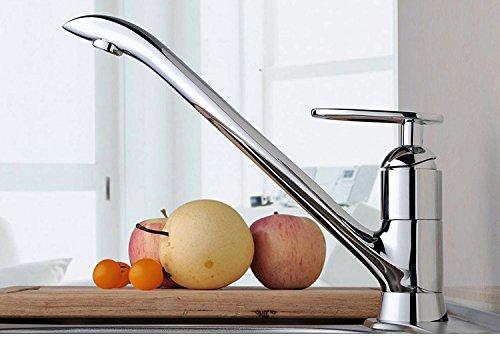 Maifeini grifo de la cocina nuevo arco único líder elegante muebles del hogar el cobre níquel cromo grifo de la cocina agua lavabo grifos cocina
