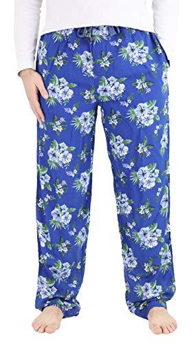 IZOD Men's Soft Touch Rayon Printed Pajama Sleep Pants, X-Large, Dark Blue