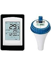 Hrsptudorc TermóMetro de Piscina, Sensor InaláMbrico, Sumergible Solar de Agua una Prueba de Agua, Flotante, Adecuado para Piscinas, Spas, Acuarios