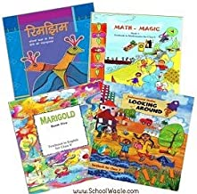 NCERT Class 5 Book Set 4 Books Marigold Rimjhim Maths Magic and Looking Around SchoolWaale Binded