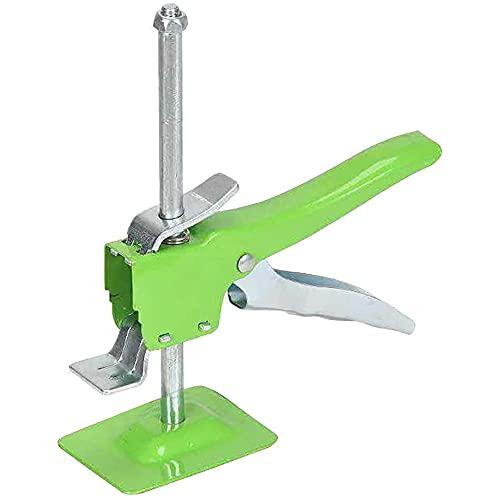 ERS Levantador de nivelación de brazo pirata de acero inoxidable, gato de mano, multifuncional de reparación de láminas de yeso antideslizante, herramienta de ajuste de baldosas, color verde-1
