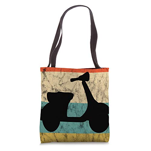 Electric Moped Vintage Retro Sunset Motorcycle Scooter Tote Bag