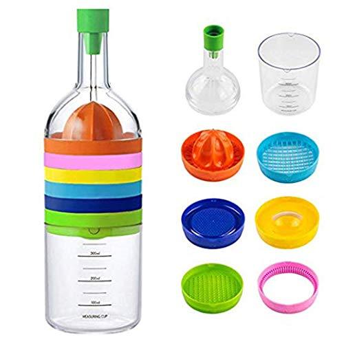 8 in 1 Kitchen Tool, Amytalk Multipurpose Kitchen Gadgets Bin Bottle - Funnel, Juicer Lemon Squeezer, Spice Grater, Egg Masher,...