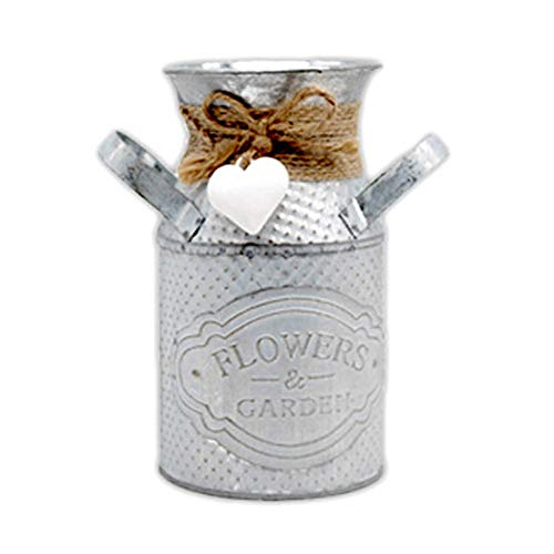 Gespout Pot de Fleurs en Fer Forgé Vase en Fer Décoration Seau en Fer Vintage Banquet Mariage Fête Décor Accessoires Pot de Fleurs pour Intérieur Extérieur