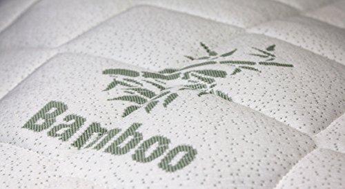 BetterSleepWell Softside Wasserbettbezug Premium Bamboo - hochwertiger Wasserbett-Bezug - Oberteil - Auflage - atmungsaktiv & klimatisierend 120x200 cm