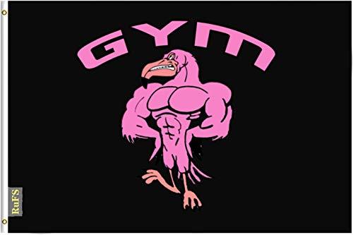 RuFS Gym Flamingo Strong Gartenhaus einseitig Polyester Zeichen Outdoor Banner Außenwand Innenhof Banner Dekor