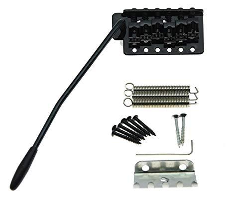 Kaish Gitarren-Tremolo-Steg im ST-Strat-Stil, Schwarz, mit Verriegelungssystem